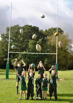 Rugby posts boost school's transition