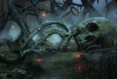 Skeleton, ruin, death  Skull Swamp by Kyle van wyk
