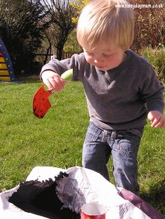 Gardening with toddlers with some upcycled pot ideas