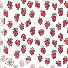 NEW!!! NEW!!! NEW!!!  This fabric is sold by the 1/2 yard. For 1 yard please kindly select a quantity of 2. Your order will be cut continuously. All orders up to 2 yards are shipped via USPS First Class Mail. All orders 3 yards and above are shipped via USPS Priority Mail. VERY STRAWBERRY - Organic Jersey by ELVELYCKAN DESIGN    All Elvelyckan Design Jersey fabrics are fine, and smooth knit with a distinct right side and reverse side. This fabric has beautiful color reproduction and is i...