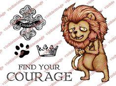 Visible Image OZ Lion stamp set