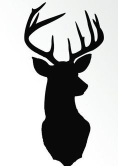 deer silhouette - Cut out, trace on a canvas and cover with sparkles!