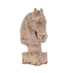 Old World Ceramic Horse with Base - Frontgate