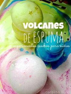 Experimento casero: Volcanes de espuma   #Artividades Science Fair, Science For Kids, Science Activities, Science Projects, Toddler Activities, Creative Activities, Diy For Kids, Crafts For Kids, Party Deco