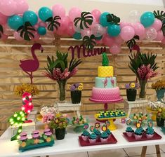 13th Birthday Parties, Luau Birthday, Fiesta Party, Luau Party, Birthday Decorations, Baby Shower Decorations, Flamenco Party, Prom Decor, Flamingo Birthday