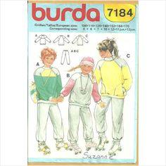 Burda 7184 Sewing Pattern Boys/Girls Pants and Sweatshirt Size 4 6 7 10 12 11 13 on eBid Canada