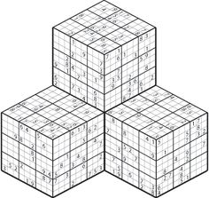 3D Sudoku Puzzles Printable Sudoku Puzzles, Crossword Puzzles, Acts Prayer, Brain Busters, Word Search Games, Magic Squares, Secondary Math, Traditional Games, Being Happy