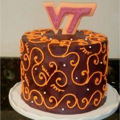 My sisters VA Tech Cake!!!! Great Job Mindy!