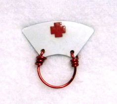 Old Fashioned Nurse Cap Eyeglass Holder by LauraWilsonGallery Nurse Cap, Eyeglass Holder, Glass Holders, Hand Wrap, Lanyards, Reading Glasses, Eye Glasses, Polymer Clay Jewelry, Mothers