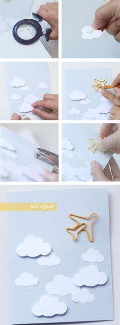 bon voyage plane paper clip - BITA