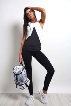 2ad3ff261ac20 adidas X Stella McCartney Train Tank White Black - The Sports Edit.  Monochrome love