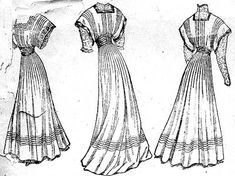 1908 tea dress -Original- Pre 1929 Historical Pattern Collection