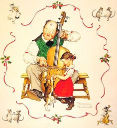 Christmas Dance by Norman Rockwell #art