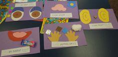 Preschool Five Senses Crafts 5 senses preschool craft found this book at 5 Senses Craft, Five Senses Preschool, 5 Senses Activities, My Five Senses, Kindergarten Science, Bilingual Kindergarten, Preschool Projects, Preschool Themes, Classroom Crafts