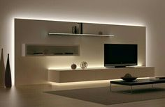 Love this LED lit Living Room