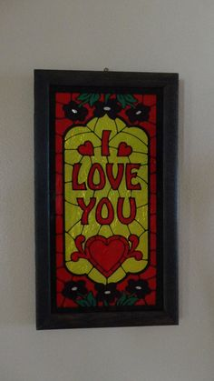 Vintage I Love You Sign by tennesseehills on Etsy, $9.00