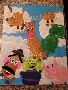 Toy story Toy Story Theme, Toy Story Party, Toy Story Birthday, Dad Birthday, Toddler Art, Toddler Crafts, Preschool Crafts, Infant Crafts, Toddler Toys