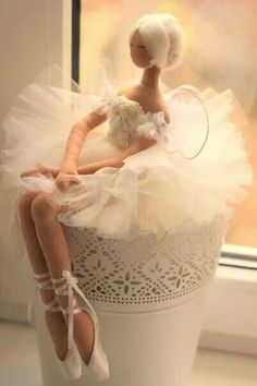 http://www.pinterest.com/scraphappymammy/tilda-dolls/  Ballerina