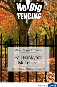 Give your backyard an instant makeover with the No Dig Grand Empire XL fence. Innovative design allow for quick connecting panels and no digging required! Patio Fence, Pergola Patio, Front Yard Landscaping, Backyard Patio, Pergola Ideas, Patio Ideas, Backyard Ideas, Outdoor Ideas, Garden Ideas