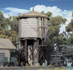 """Walthers - Wood Water Tank - Kit - 3-1/2 x 3-7/8 x 6-5/8"""" 8.7 x 9.6 x 16.5cm - 933-3531"""