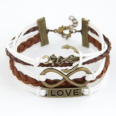 Occident fashion love 8 letters and anchor easy match leather multi-layer bracelet 212197