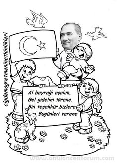 Atatürk'le 23 Nisan törenindeyiz. - Okul Öncesi Etkinlik Kaynağınız Student Fashion, Printable Crafts, Coloring Pages, Classroom, Education, Blog, Kids, Montessori Homeschool, Silhouettes