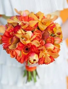 orange wedding bouquet flowers, orange wedding bouquet, bridal bouquet, add pic source on comment and we will update it. www.myfloweraffair.com