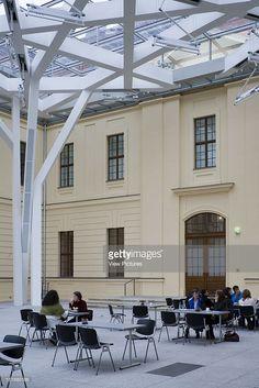 Jewish Museum, Berlin, Germany, Architect Daniel Libeskind, 1999, Jewish Museum Deatil Of Cafe Area.