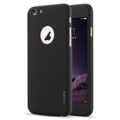 FLOVEME Full Included PC Case For Apple iphone6 6S 7 7 Plus with Hole For Apple 360 Degree Cover For i6 7 Plus Tempered Glass