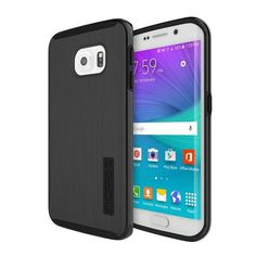 Incipio Samsung Galaxy S6 Edge Dual PRO Shine Case - Black / Black
