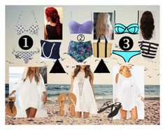 """""""Beach Squad (which one would you wear?)"""" by liviahopper-1 on Polyvore featuring O'Neill, WithChic, ASOS, Aéropostale, Cocobelle, Muuñ and WigYouUp"""