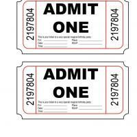 Free Printable Admit One Ticket Templates   Blank Downloadable ...