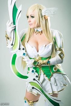 Jessica Nigri as Grand Archer Rena from Elsword #cosplay