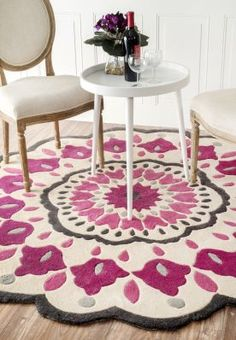 $5 Off when you share! Fergana Apache Pink Rug | Contemporary Rugs #RugsUSA