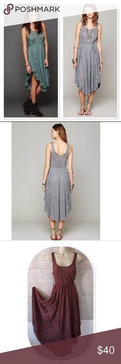Free People Beach Starry Night Dress Bottom half lined. Tie at waist. Perfect for summer weather. Asymmetric hem. Free People Dresses