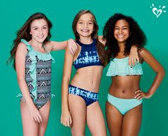 Make a splash in swimsuits with ruffles, tie dye and cutouts!