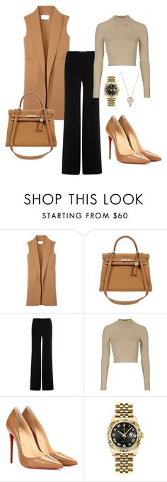 """Untitled #280"" by nadiralorencia on Polyvore featuring Alexander Wang, Hermès, Diane Von Furstenberg, Topshop, Christian Louboutin, Rolex, Noor Fares, women's clothing, women and female"