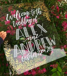 Acrylic Wedding Decor / Acrylic Welcome Sign - $125