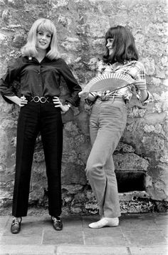 1960s Catherine Deneuve and Francoise Dorleac
