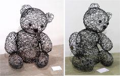 Teddy Contemporary Sculpture, Garden Sculpture, Sculptures, Teddy Bear, Outdoor Decor, Animals, Home Decor, Animales, Decoration Home