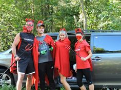 Family matters: the Mabies getting ready for a devilish time. Ironman Wisconsin 2015 bike course is always better with them!