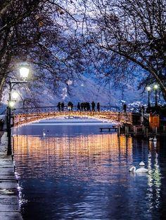 Bridge of Love in Annecy, France