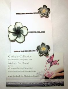 Flower Bobby Pin SetBridal Hair Jewerly by christiencollection