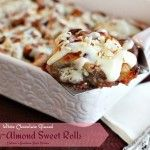 White Chocolate Glazed Cherry Almond Sweet Rolls