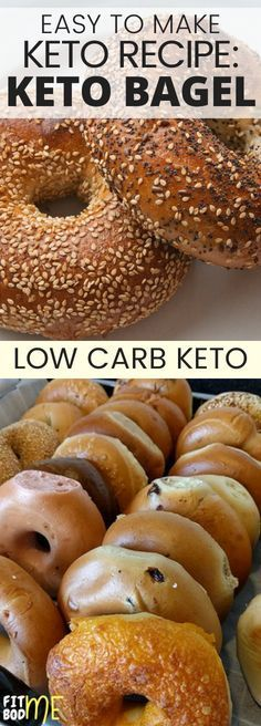 This is one of the closest to perfect keto breakfast recipes i have ever tried. If you are on the keto diet and you are looking for low carb meals to make then you have come to the right place! This recipe is the best keto bagel recipe that i have ever tr Keto Bagels, Low Carb Bagels, Low Carb Keto, Low Carb Recipes, Cooking Recipes, Healthy Recipes, Healthy Food, Eating Healthy, Free Recipes
