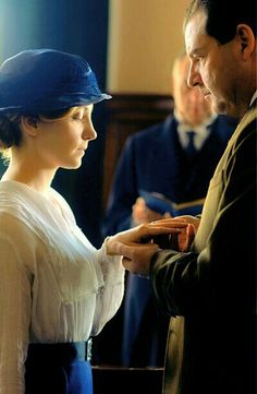 "Mr and Mrs Bates in ""Downton Abbey"""