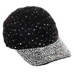 60ca9a4e4b4 Buy Crystal Case Women s Black Sequin Rhinestone Studded Adjustable Baseball  Cap Hat in Cheap Price on m.alibaba.com