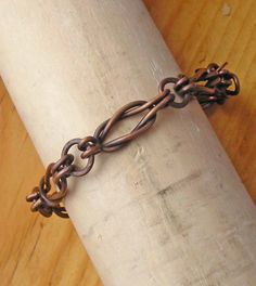 Mens+Copper+Chainmaille+Bracelet+Irish+by+TahoeJewelryandArt,+$145.00