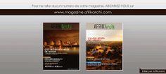 Abonnez-vous et ne rater aucun numéro d'AFRIKArchi Magazine