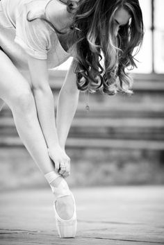 Pose for the first pointe shoes